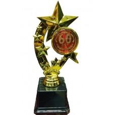 Фигура Звезды на основе из пластика 60 лет medali-26326880