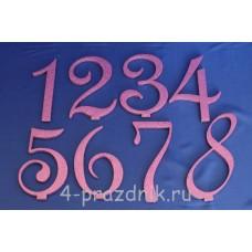 Нумерация праздничных столов в розовом исполнении (от 1-до8) 1883-roz