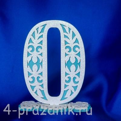 Нумерация праздничных столов в бирюзовом исполнении (от 0-до9) 1884-bir оптом