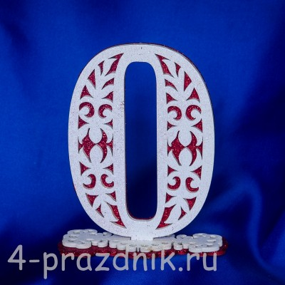 Нумерация праздничных столов в красном исполнении (от 0-до9) 1884-kr оптом