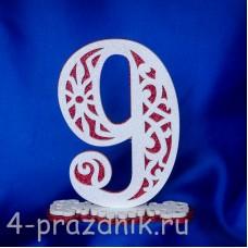Нумерация праздничных столов в красном исполнении (от 0-до9) 1884-kr