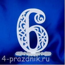 Нумерация праздничных столов в синем исполнении (от 0-до9) 1884-sin