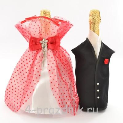 Одежда на шампанское красная sam033 оптом