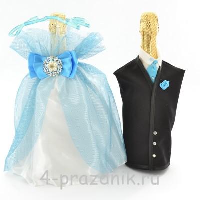 Одежда на шампанское голубая sam034 оптом