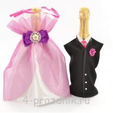 Одежда на шампанское вишневая sam039
