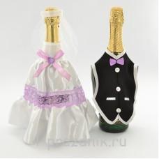Одежда на шампанское сиреневого цвета sam046