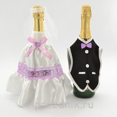 Одежда на шампанское сиреневого цвета sam046 оптом