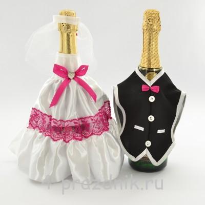 Одежда на шампанскоемалинового цвета sam047 оптом