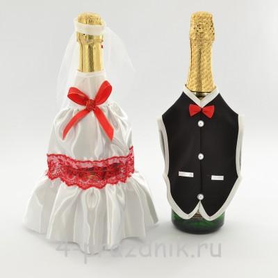 Одежда на шампанское красного цвета sam048 оптом
