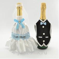 Одежда на шампанскоеголубого цвета sam049