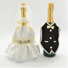 Одежда на шампанское цвета айвори sam051