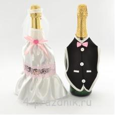 Одежда на шампанское розового цвета sam052