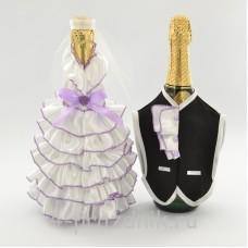 Одежда на шампанскоесиреневого  цвета sam053