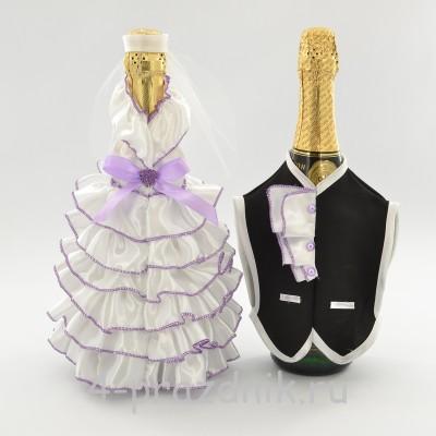 Одежда на шампанскоесиреневого  цвета sam053 оптом