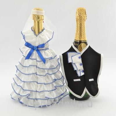 Одежда на шампанскоесинего цвета sam055 оптом