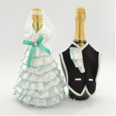 Одежда на шампанское  цвета мята sam058
