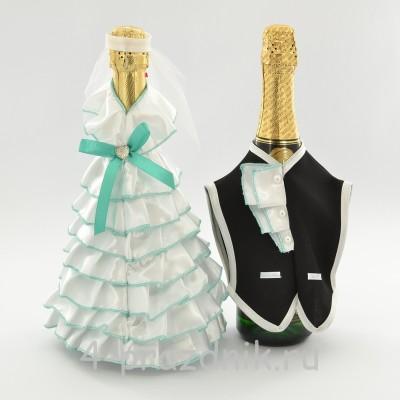 Одежда на шампанское  цвета мята sam058 оптом