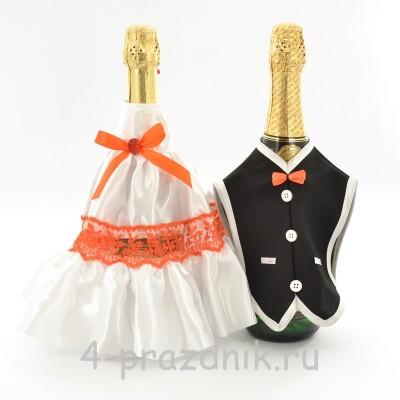 Одежда на шампанскоеоранжевого цвета sam059 оптом