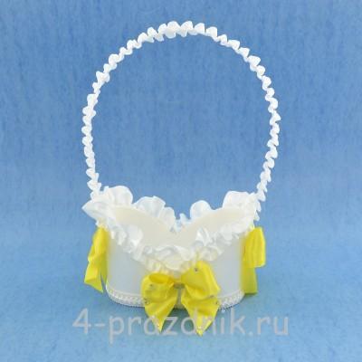 Корзинка для шампанского с желтым декором sam064 оптом