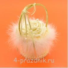 Корзинка для колец цвета айвори podushka011