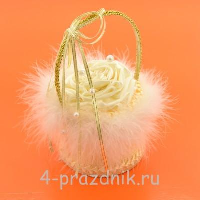 Корзинка для колец цвета айвори podushka011 оптом