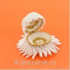 Ракушка для колец белого цвета podushka013
