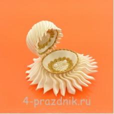 Ракушка для колец цвета айвори podushka014