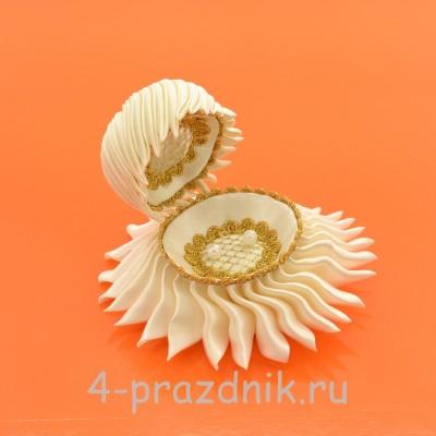 Ракушка для колец цвета айвори podushka014 оптом