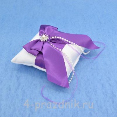 Подушка для колец в фиолетовом оформлении podushka015 оптом