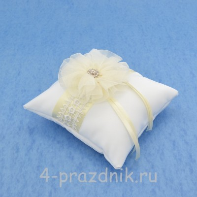 Подушка для колец в айвори оформлении podushka016 оптом
