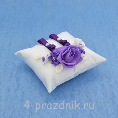 Подушка для колец в фиолетовом оформлении podushka017 оптом