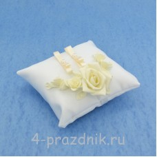 Подушка для колец в айвори оформлении podushka018