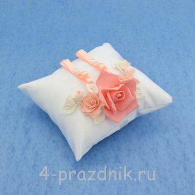 Подушка для колец в коралловом оформлении podushka019 оптом