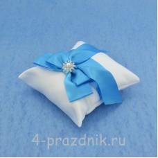 Подушка для колец в синем оформлении podushka021