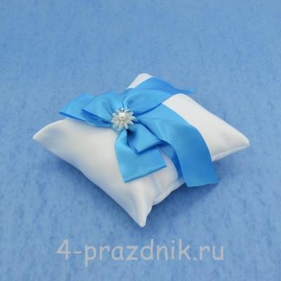 Подушка для колец в синем оформлении podushka021 оптом