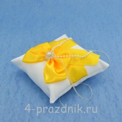 Подушка для колец в желтом оформлении podushka022 оптом