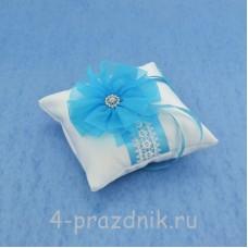 Подушка для колец в бирюзовом оформлении podushka023
