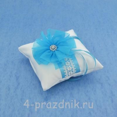 Подушка для колец в бирюзовом оформлении podushka023 оптом