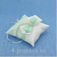Подушка для колец в мятно-зеленом оформлении podushka024