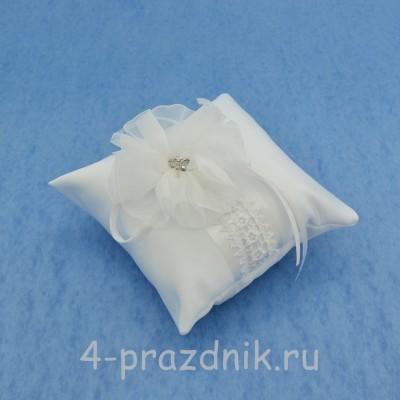 Подушка для колец в белом оформлении podushka025 оптом