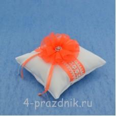 Подушка для колец в оранжевом оформлении podushka026