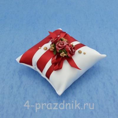 Подушка для колец в вишневом оформлении podushka029 оптом