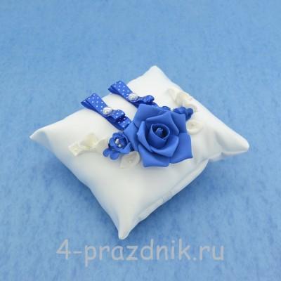 Подушка для колец в синем оформлении podushka030 оптом