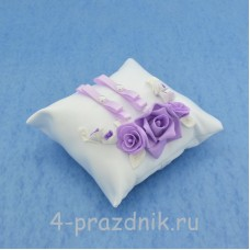 Подушка для колец в сиреневом оформлении podushka032