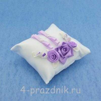 Подушка для колец в сиреневом оформлении podushka032 оптом