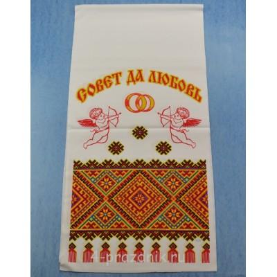 Рушник с традиционным орнаментом и ангелами A224 оптом
