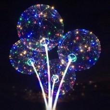 YW-00138 Набор из 9-ти воздушных шаров Baby Balls, d=50см с 50 LED подсветкой, разборная ручка 97 см 76289