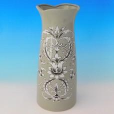 NI-01132 (8) Ваза для цветов серая, керамика 15*15*33см