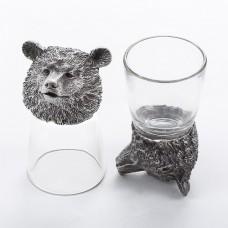 """M-50053 (20) Набор из 2 стопок-перевертышей """"Медведь"""" (50мл/стопка)"""