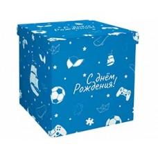 Коробка д/надутых шар 60см С ДР голубая